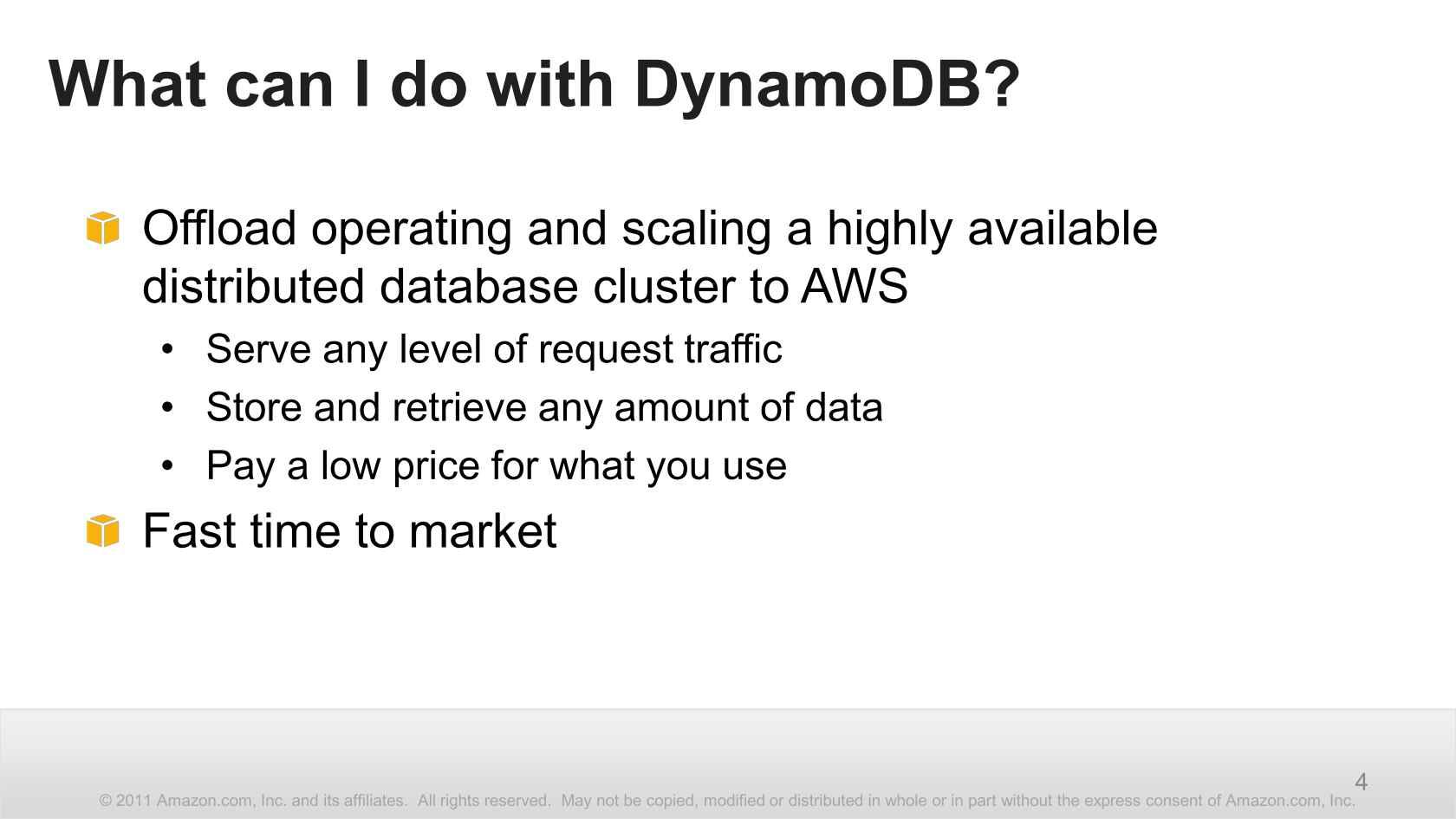 Amazon DynamoDB Design Patterns & Best Practices