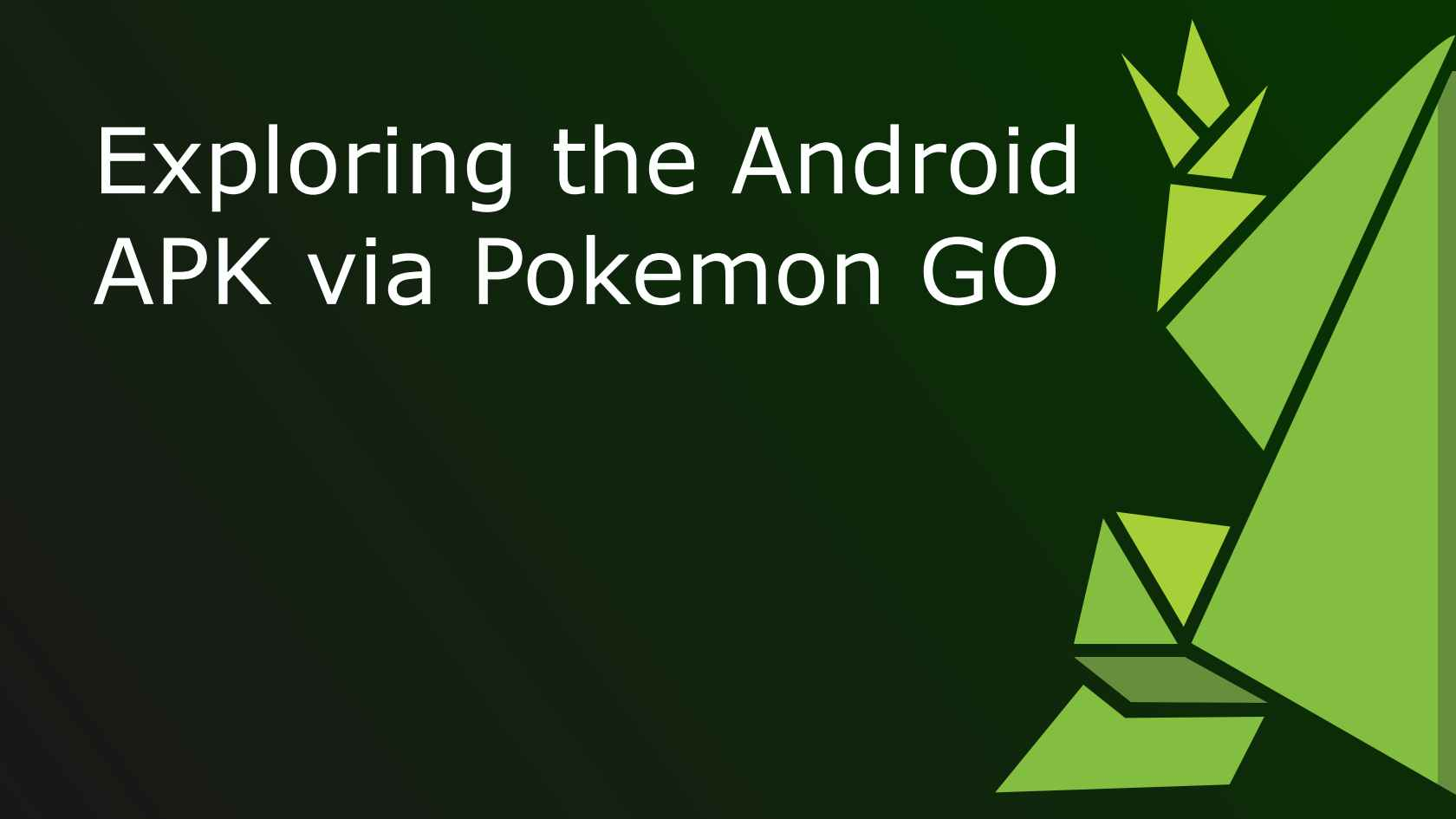 Exploring the Android APK
