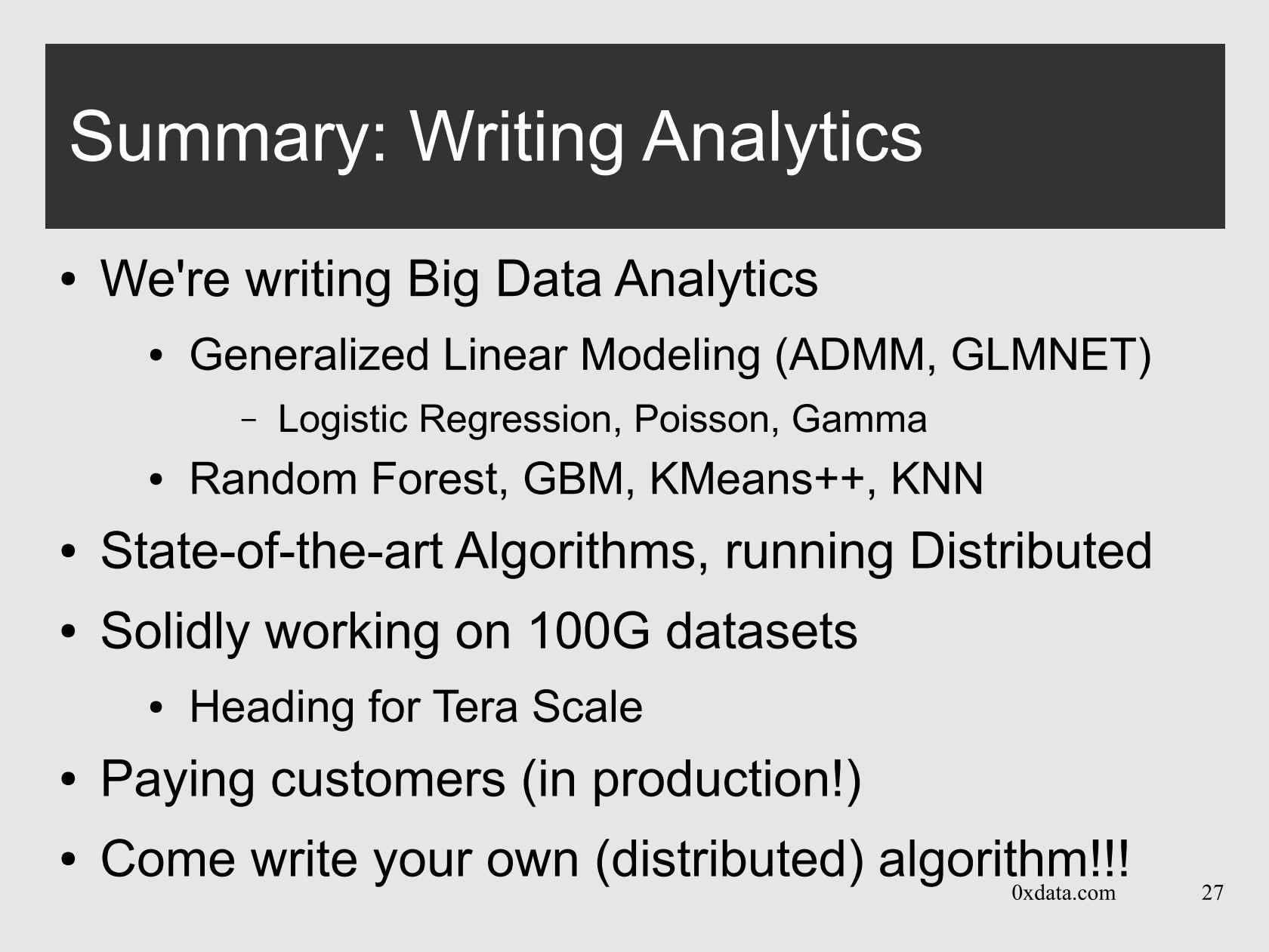 An API for Distributed Computing