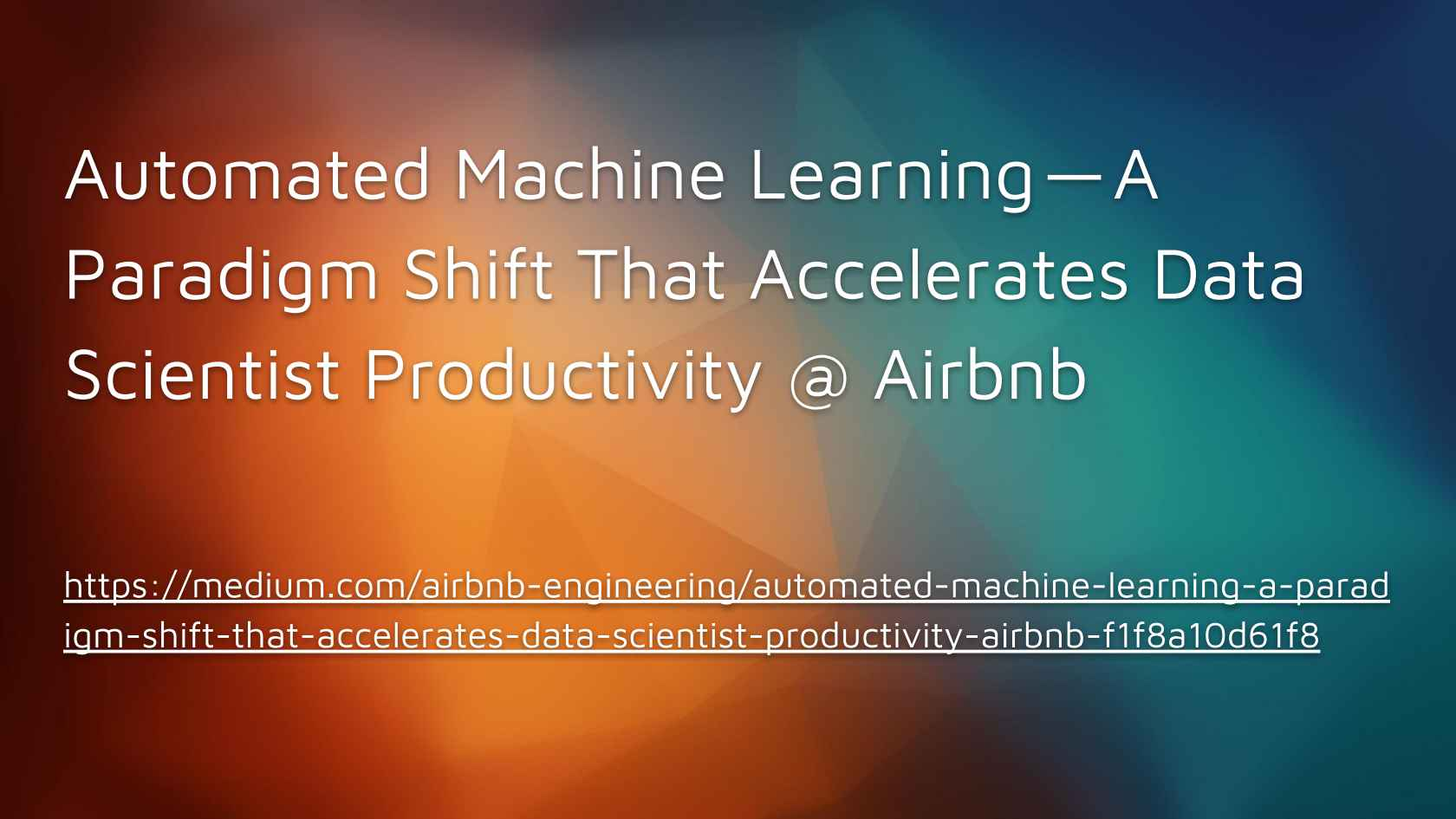 Data Science for Lazy People, Automated Machine Learning