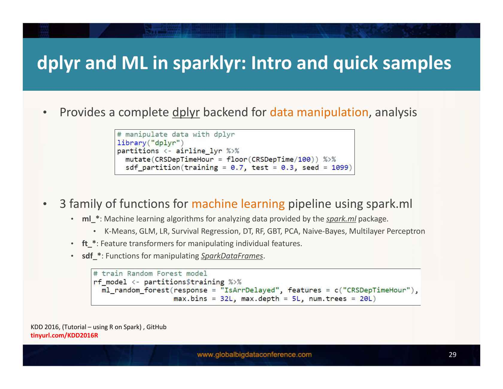 Machine Learning and End-to-End Data Analysis Processes in