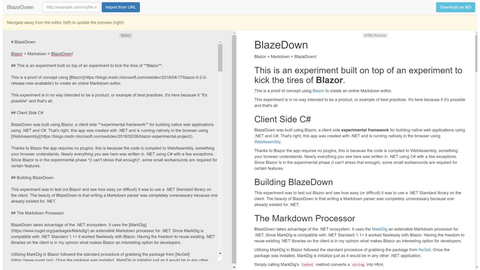 Goodbye Client Side JavaScript, Hello C#'s Blazor