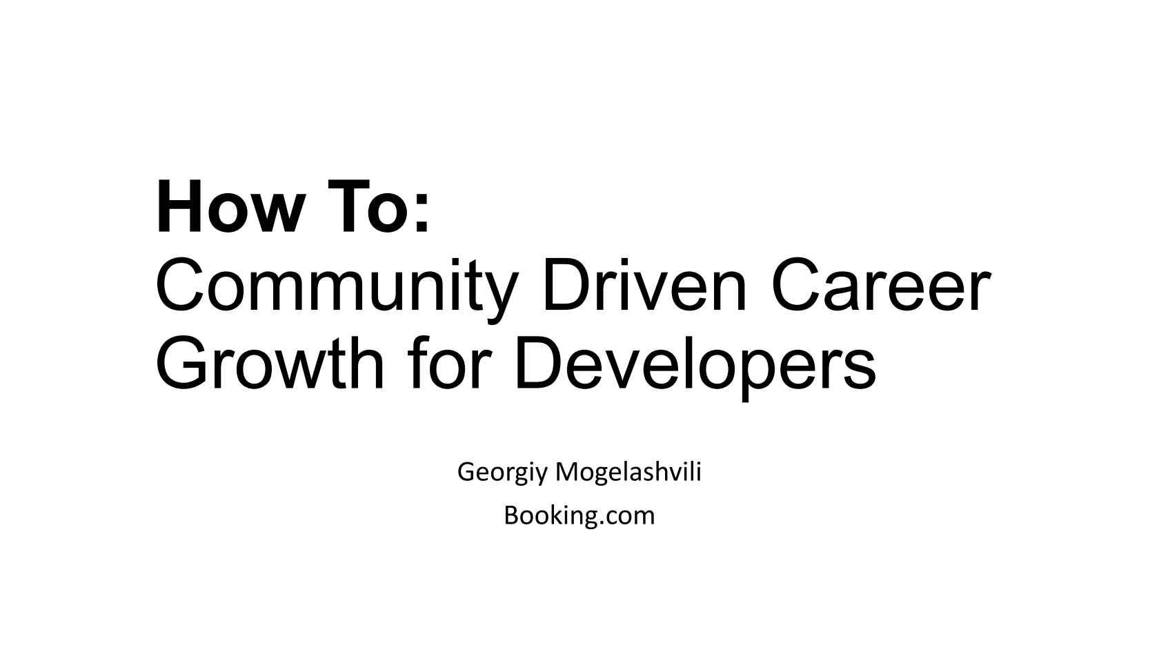 How To Developers Community Driven Career Growth