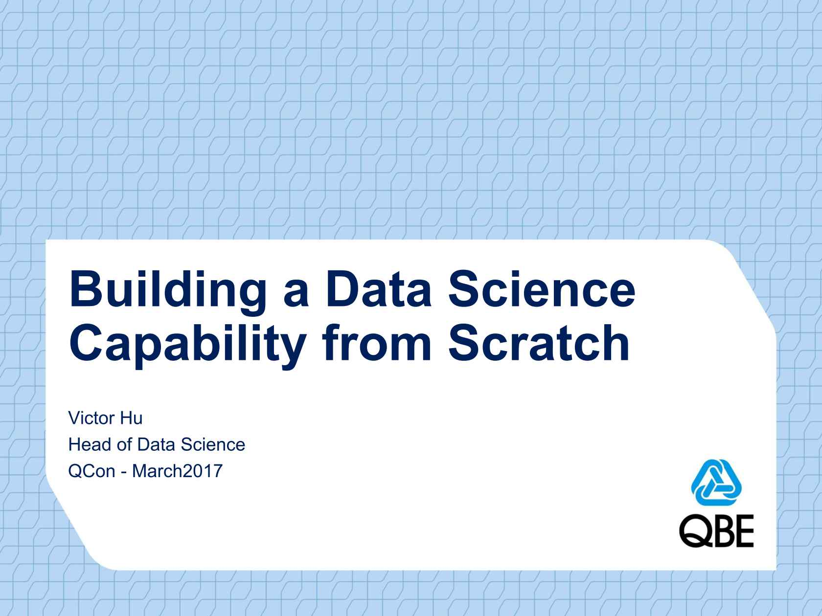 Building a Data Science Capability from Scratch