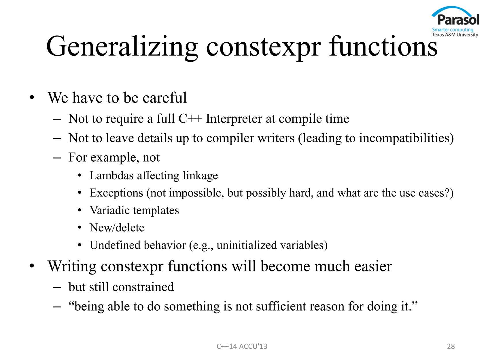 C++14 Early Thoughts