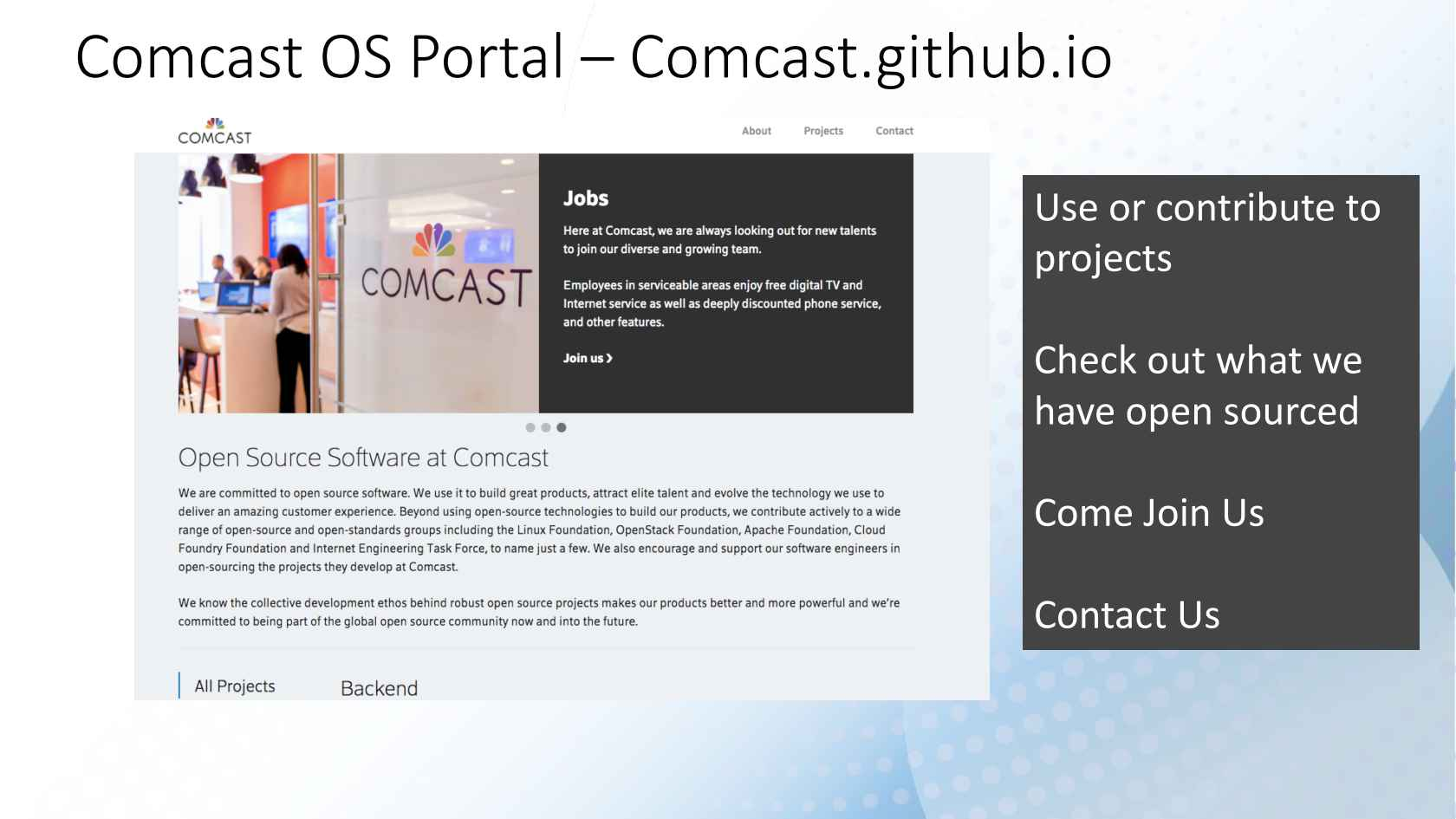 How Comcast Embraced Open