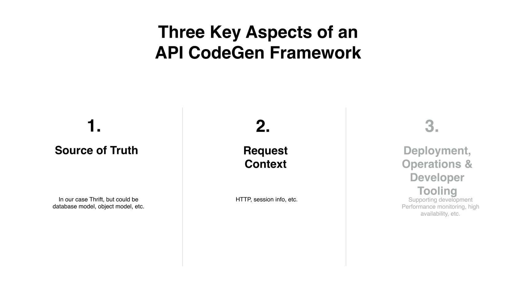 Rethinking CodeGen: IDL, Thrift, gRPC, Ohh My