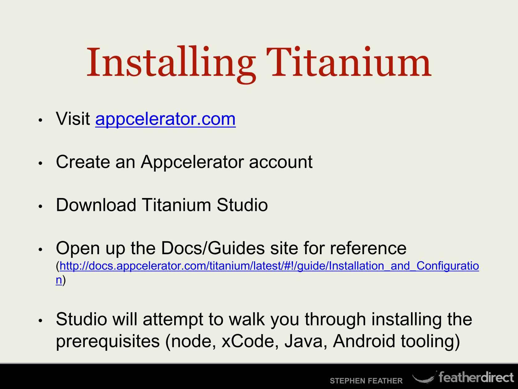 Cross-platform Native Development with Titanium