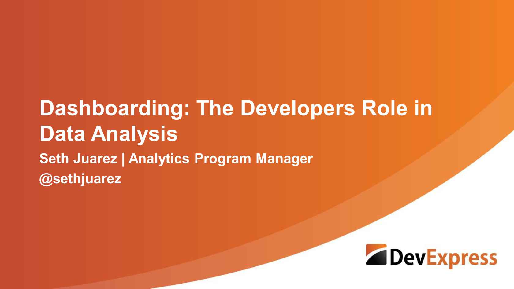 Dashboarding: The Developers' Role in Data Analysis