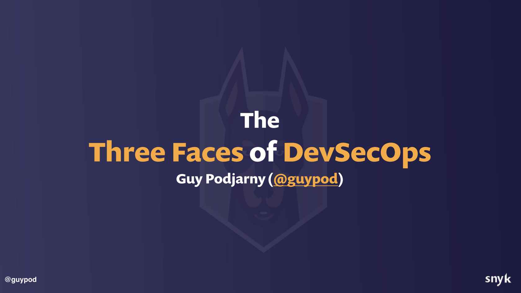 The Three Faces of DevSecOps