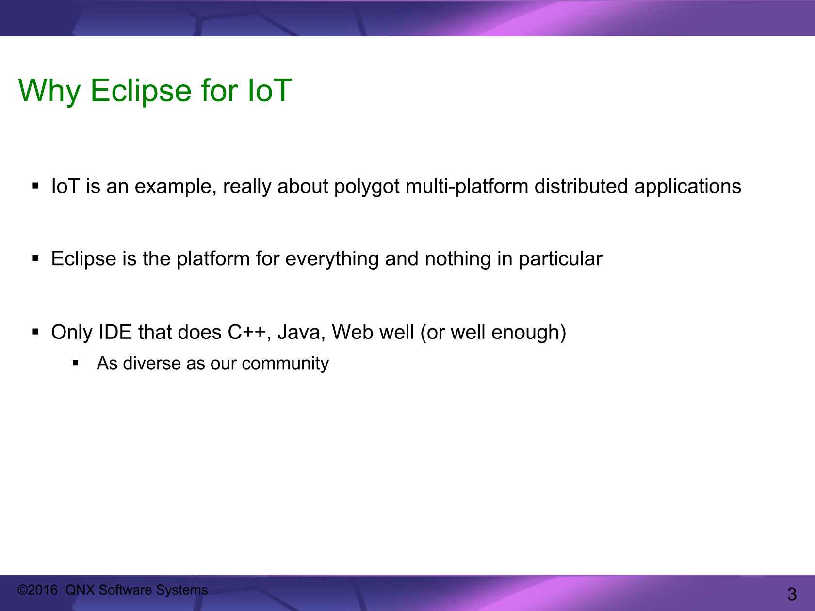Eclipse, the IDE for IoT