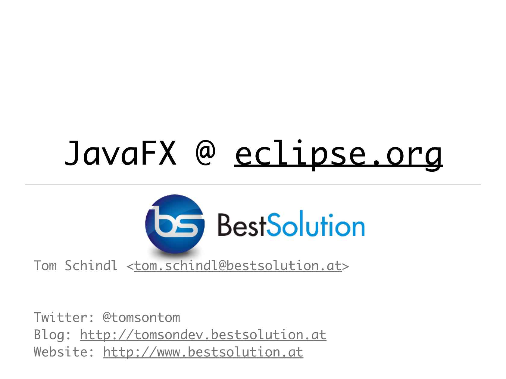 What can e(fx)clipse do for you to Develop JavaFX Applications and