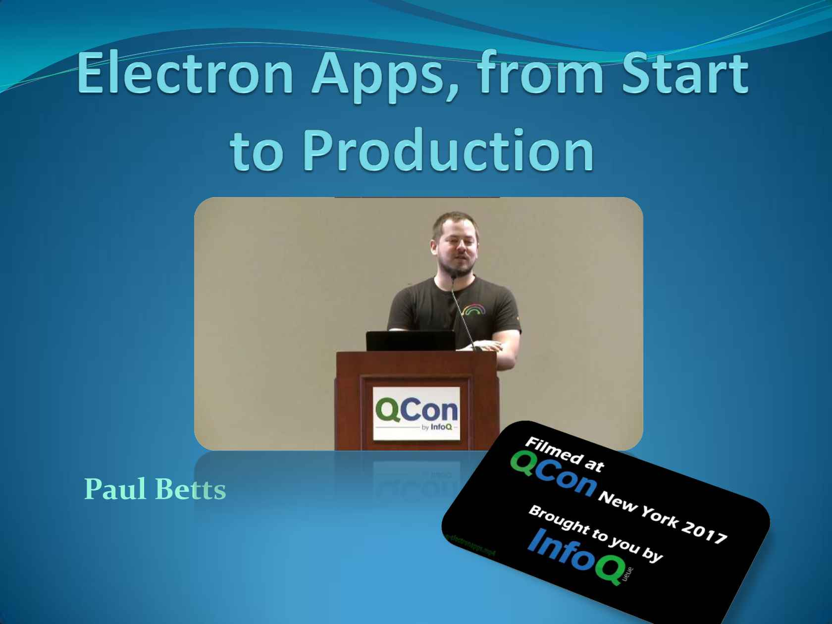 Electron Apps, from Start to Production