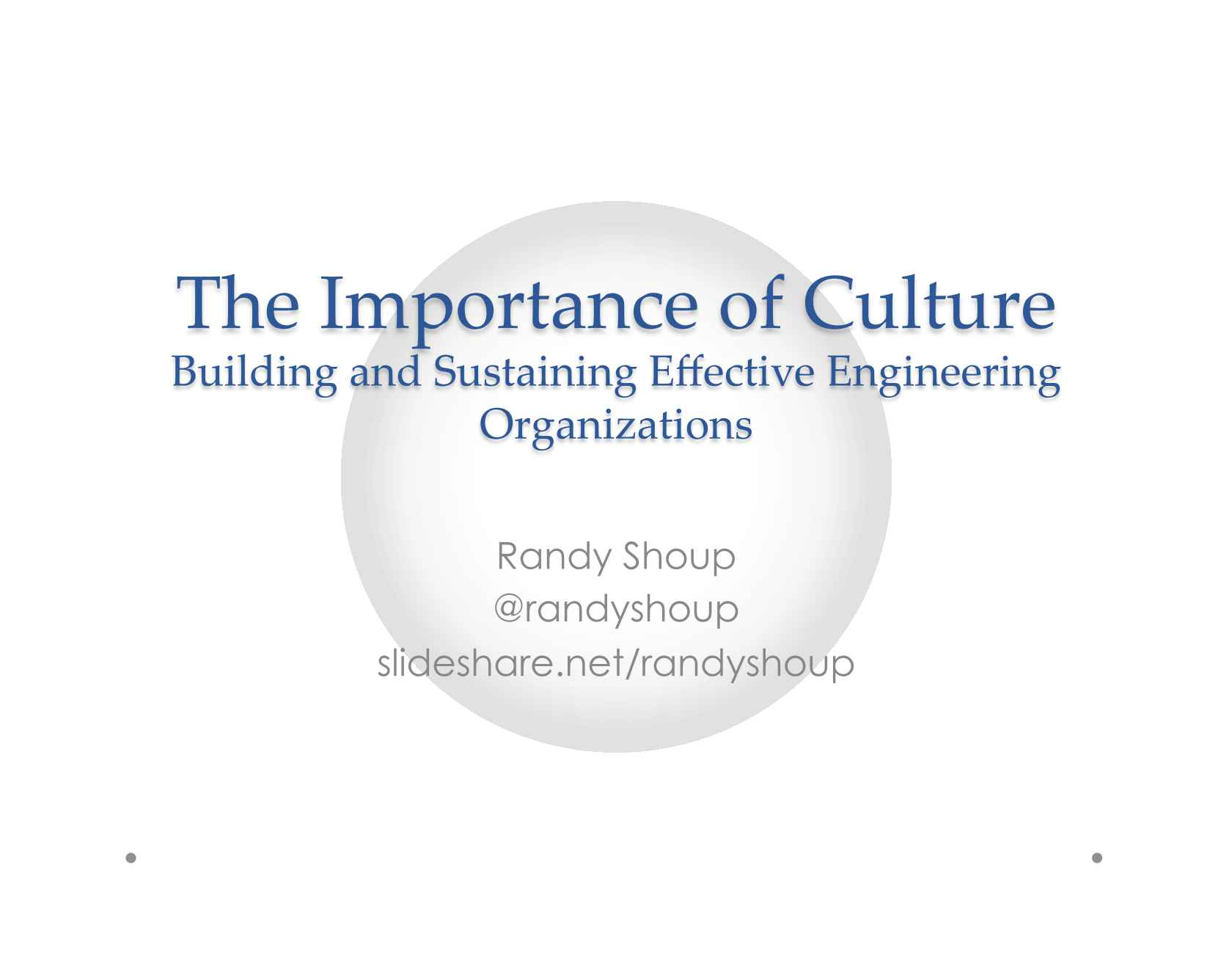 importance of culture Culture is not about being cool or even being a 'best place to work' it's about being more successful period.