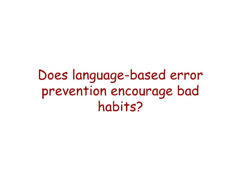 Presentation: The Ethics of Error Prevention