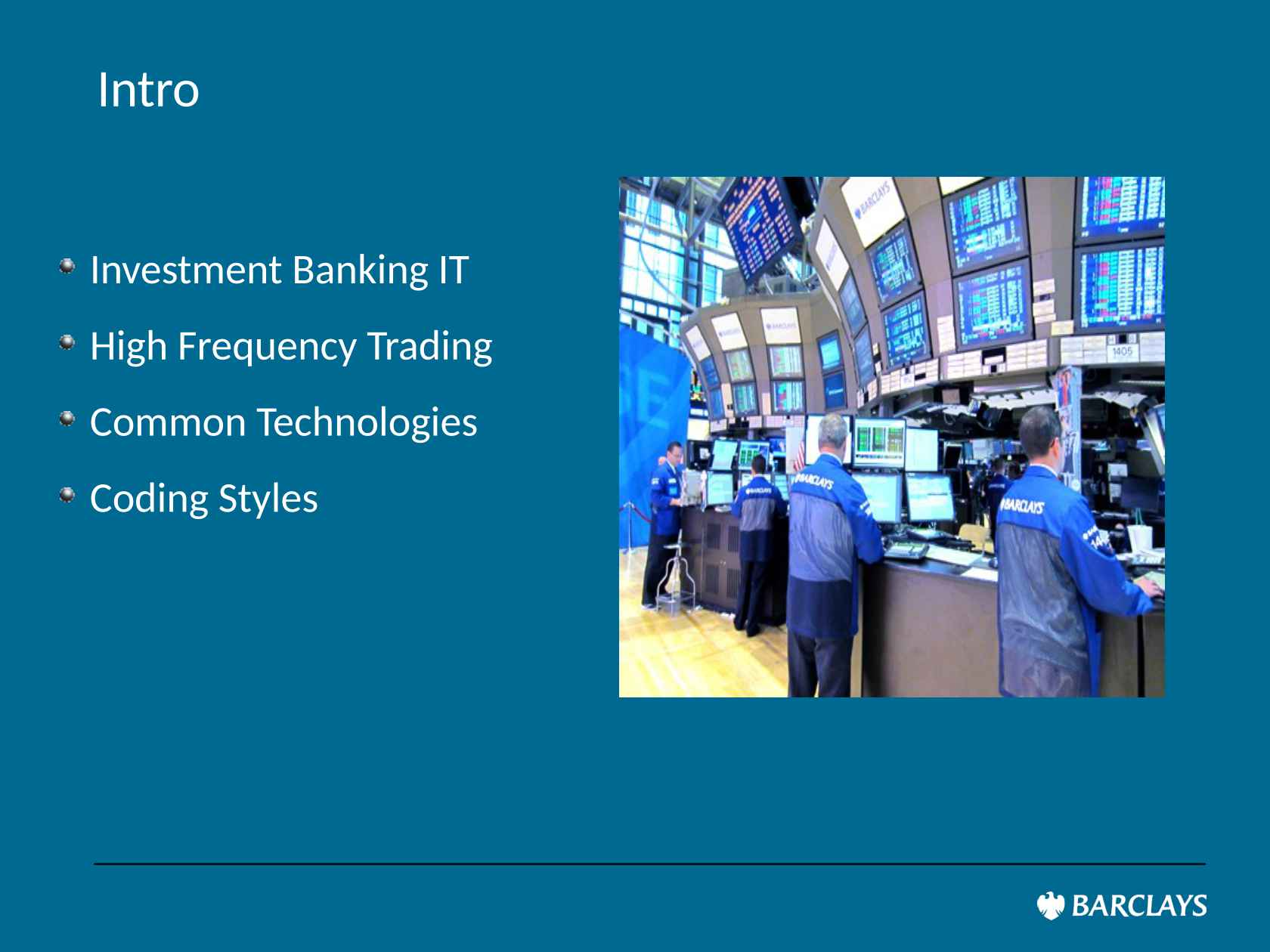 Coding for High Frequency Trading
