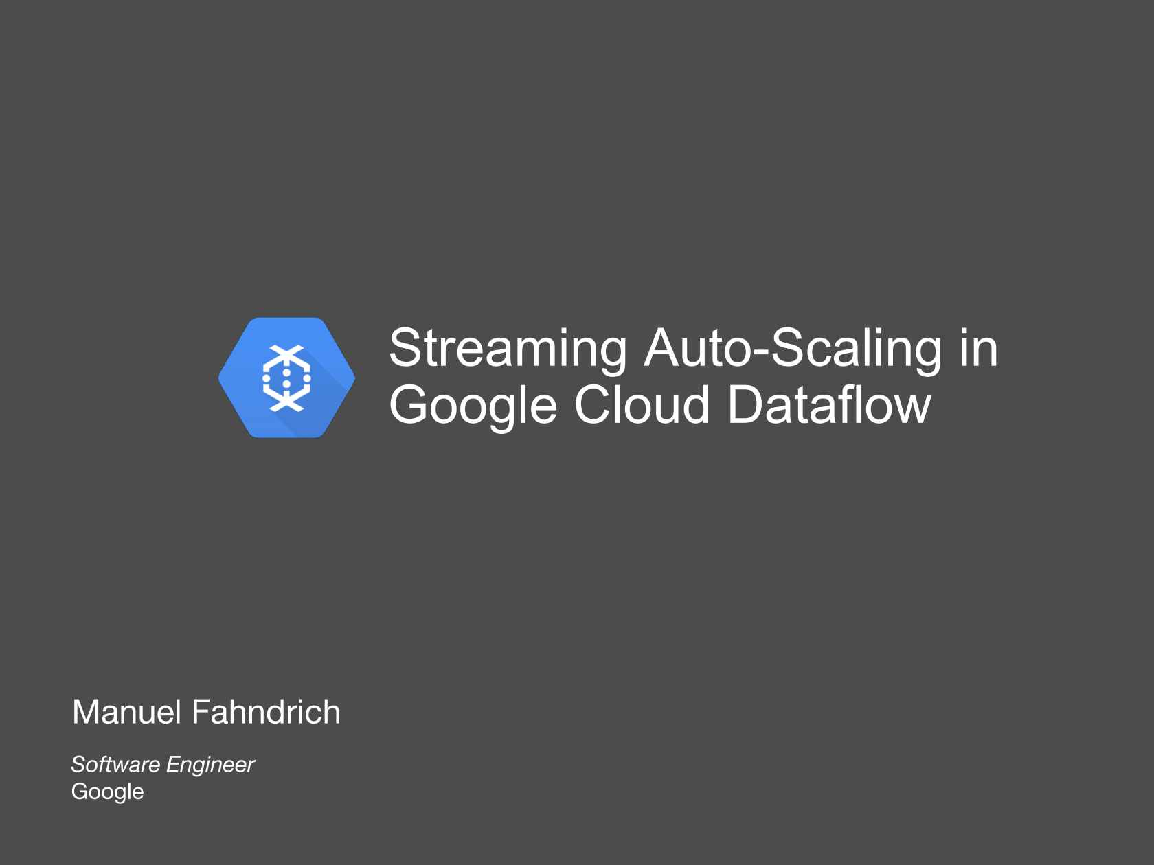 Streaming Auto-scaling in Google Cloud Dataflow