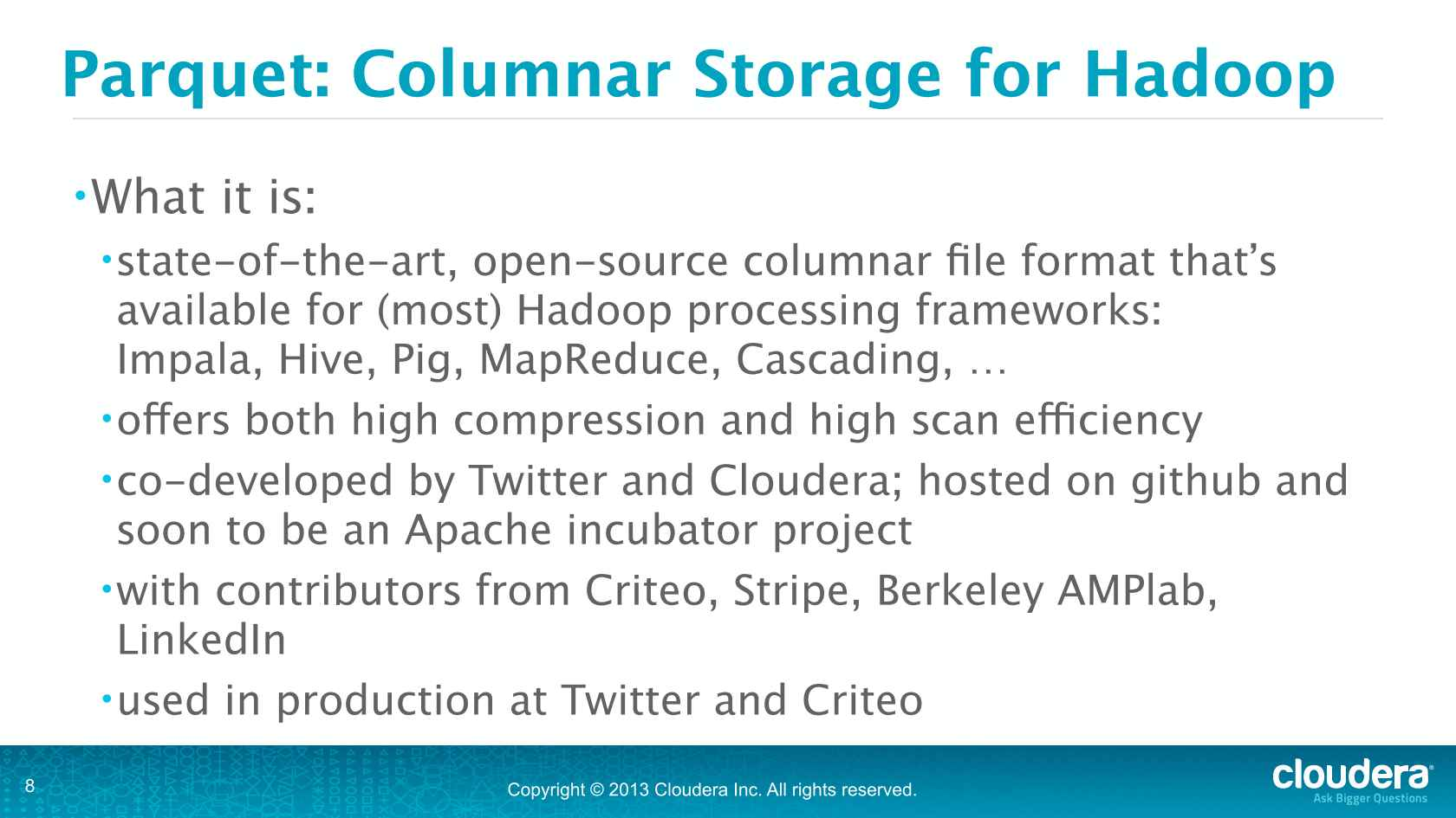 The Next Wave of SQL-on-Hadoop: The Hadoop Data Warehouse