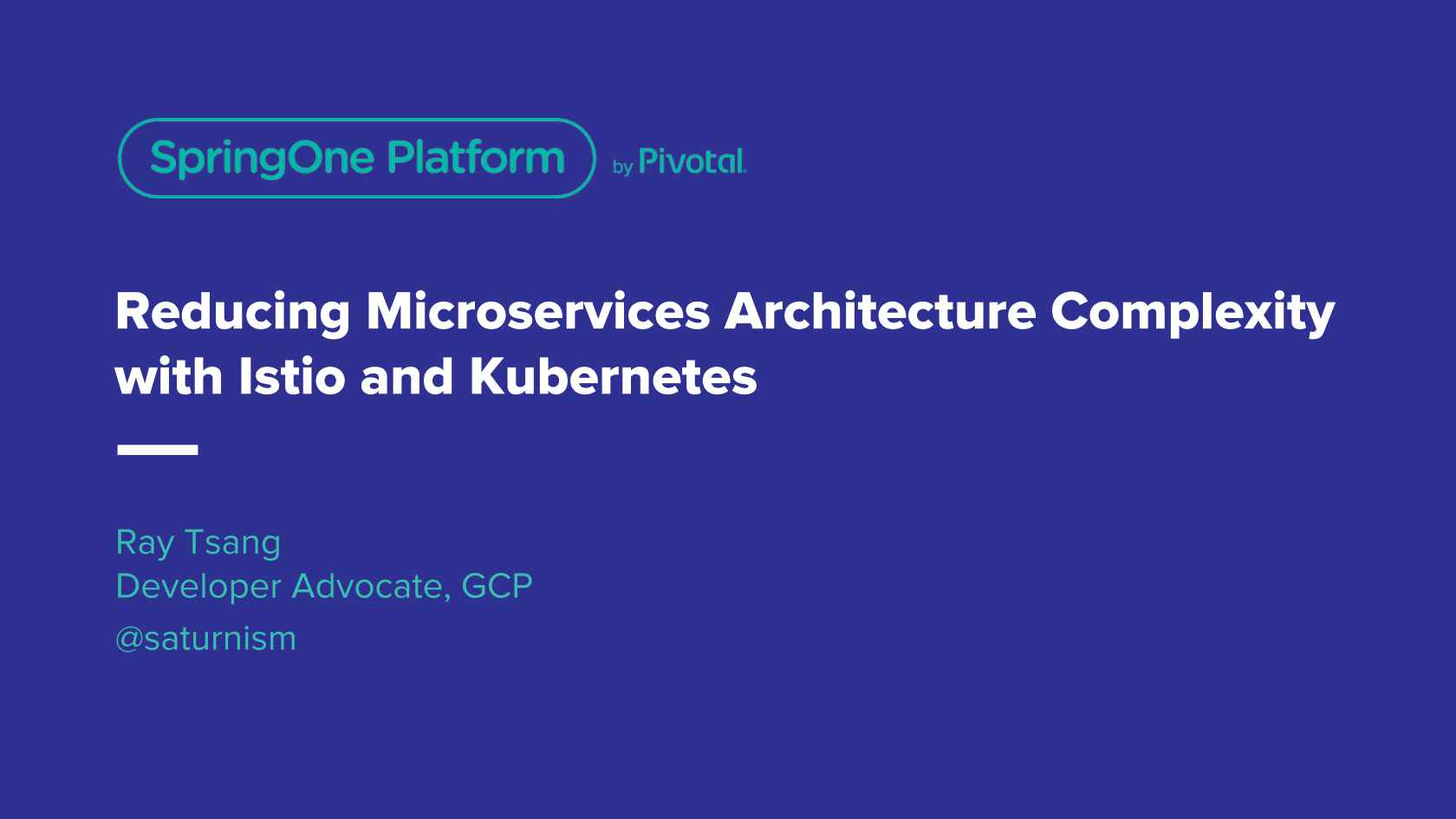 Reducing Microservices Architecture Complexity with Istio and