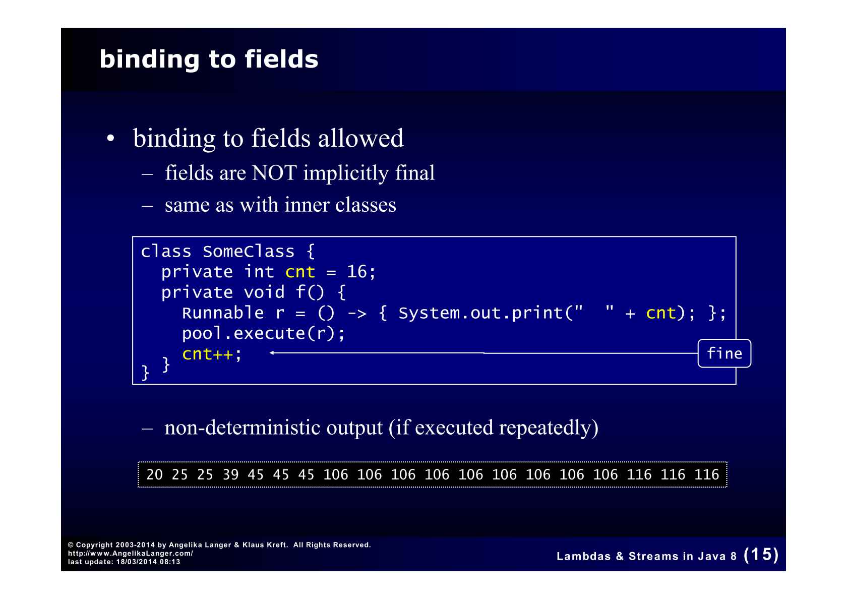 Lambdas and Streams in Java 8