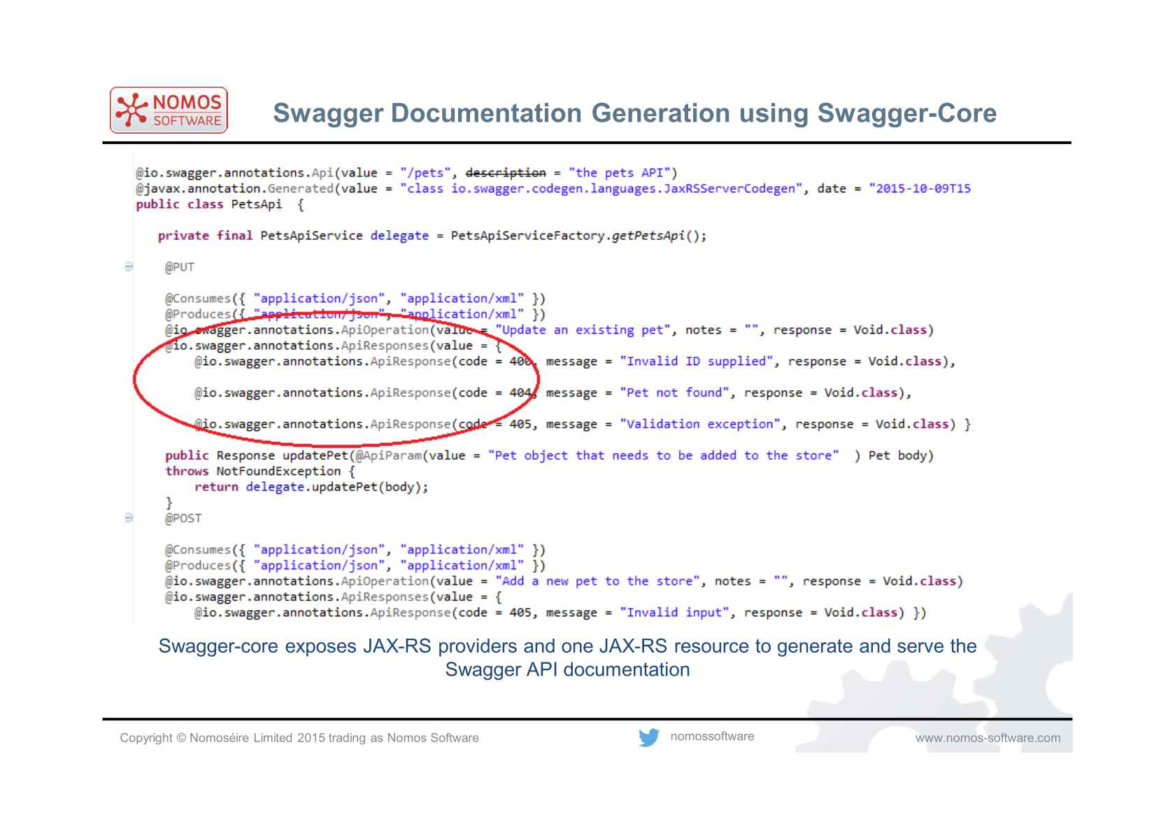 Creating Java REST Servers from Swagger API Definitions