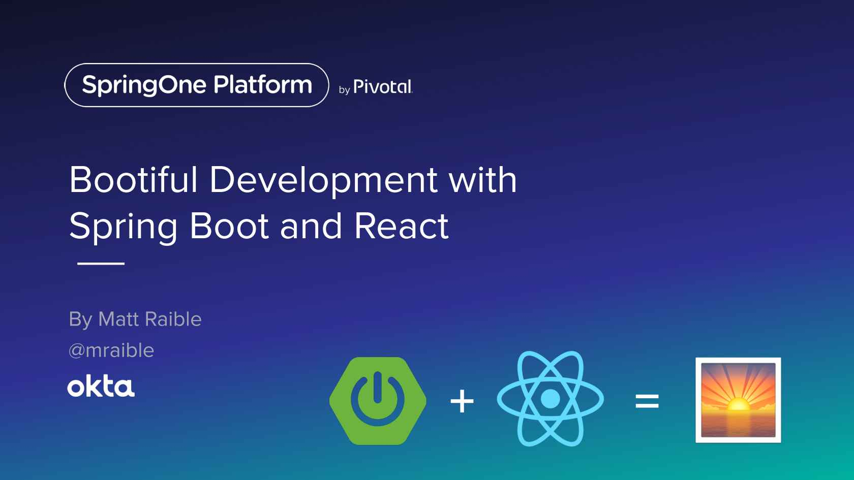 Bootiful Development with Spring Boot and React