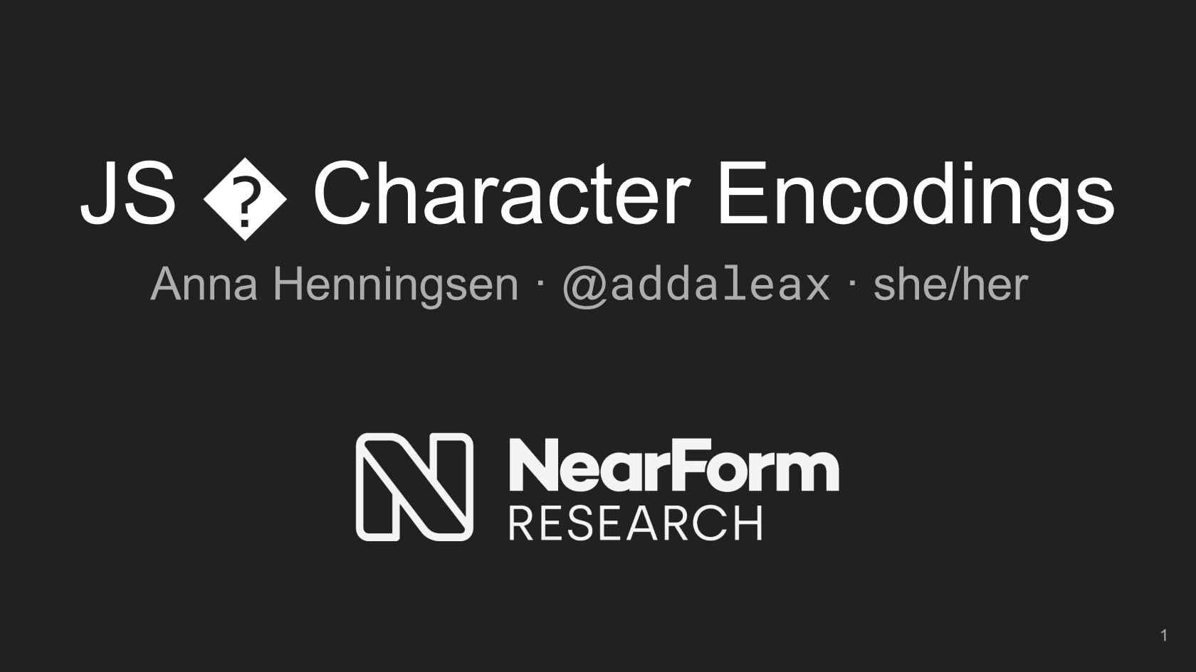 JS   Character Encodings