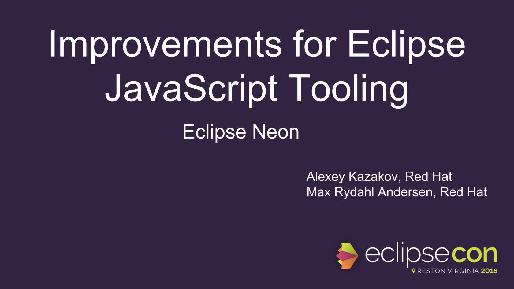Improvements for Eclipse JavaScript Tooling