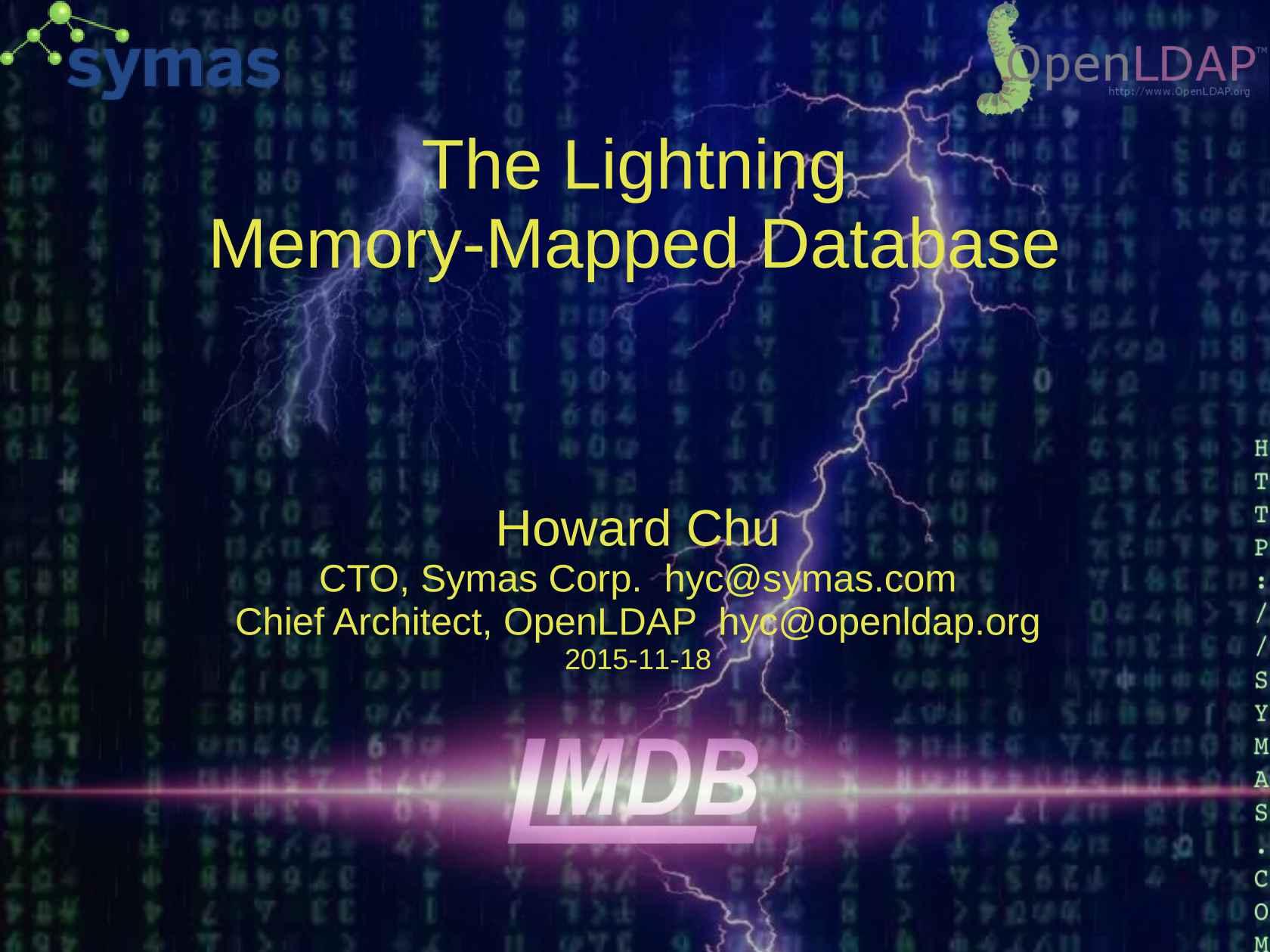 The Lightning Memory-mapped Database