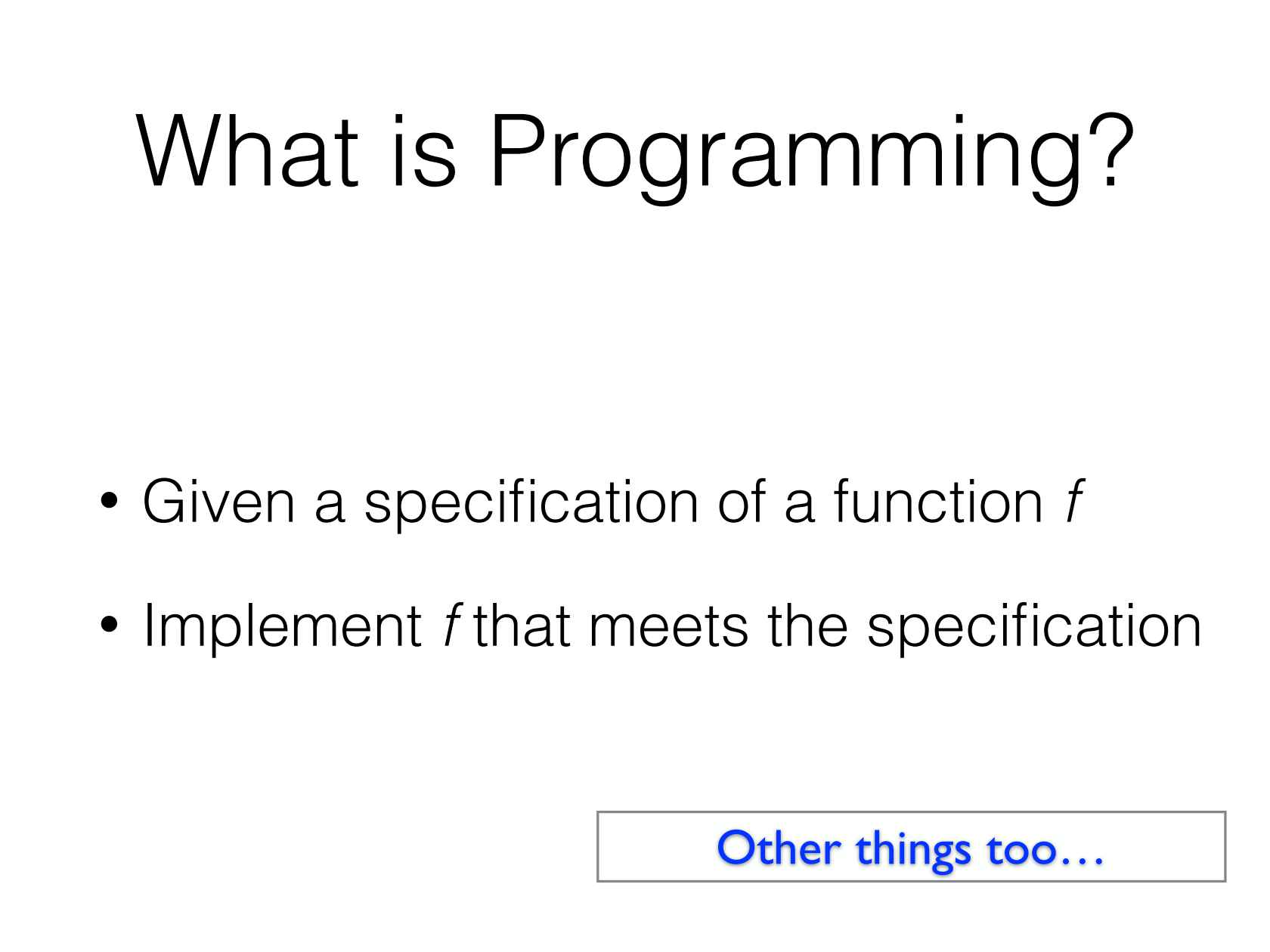 Machine Learning For Programming
