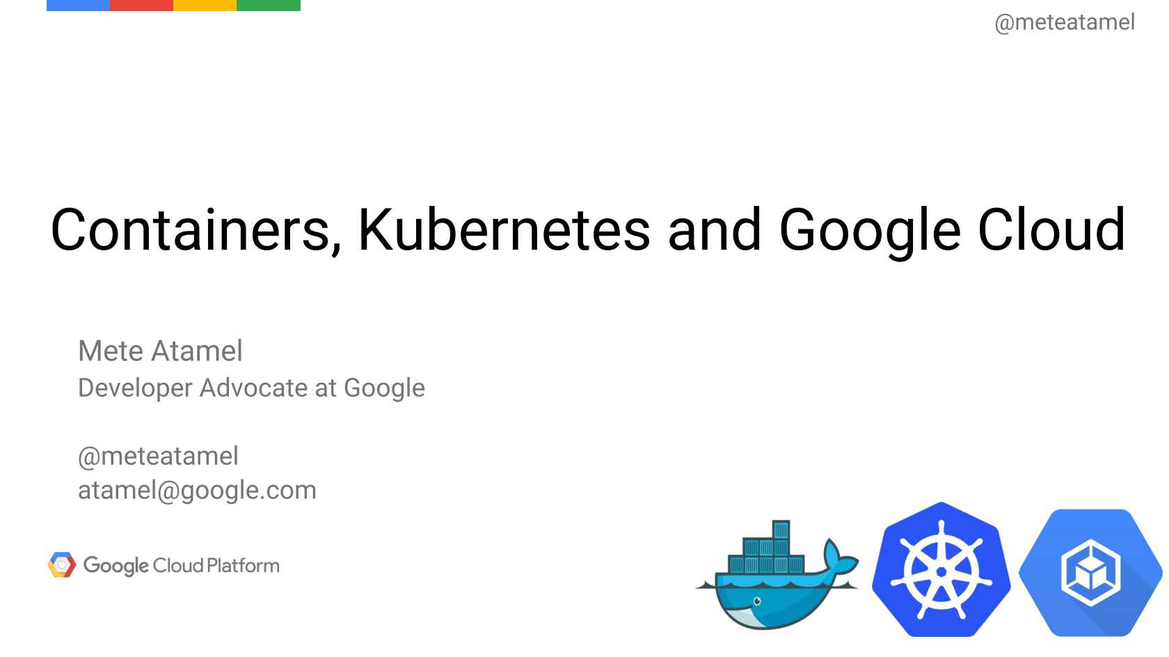 Containers, Kubernetes and Google Cloud