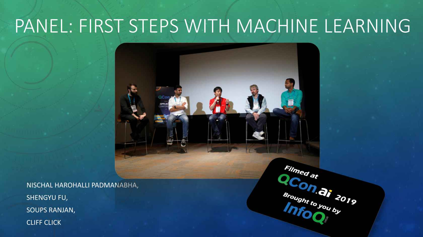 Learning Happens Everywhere Public >> Panel First Steps With Machine Learning