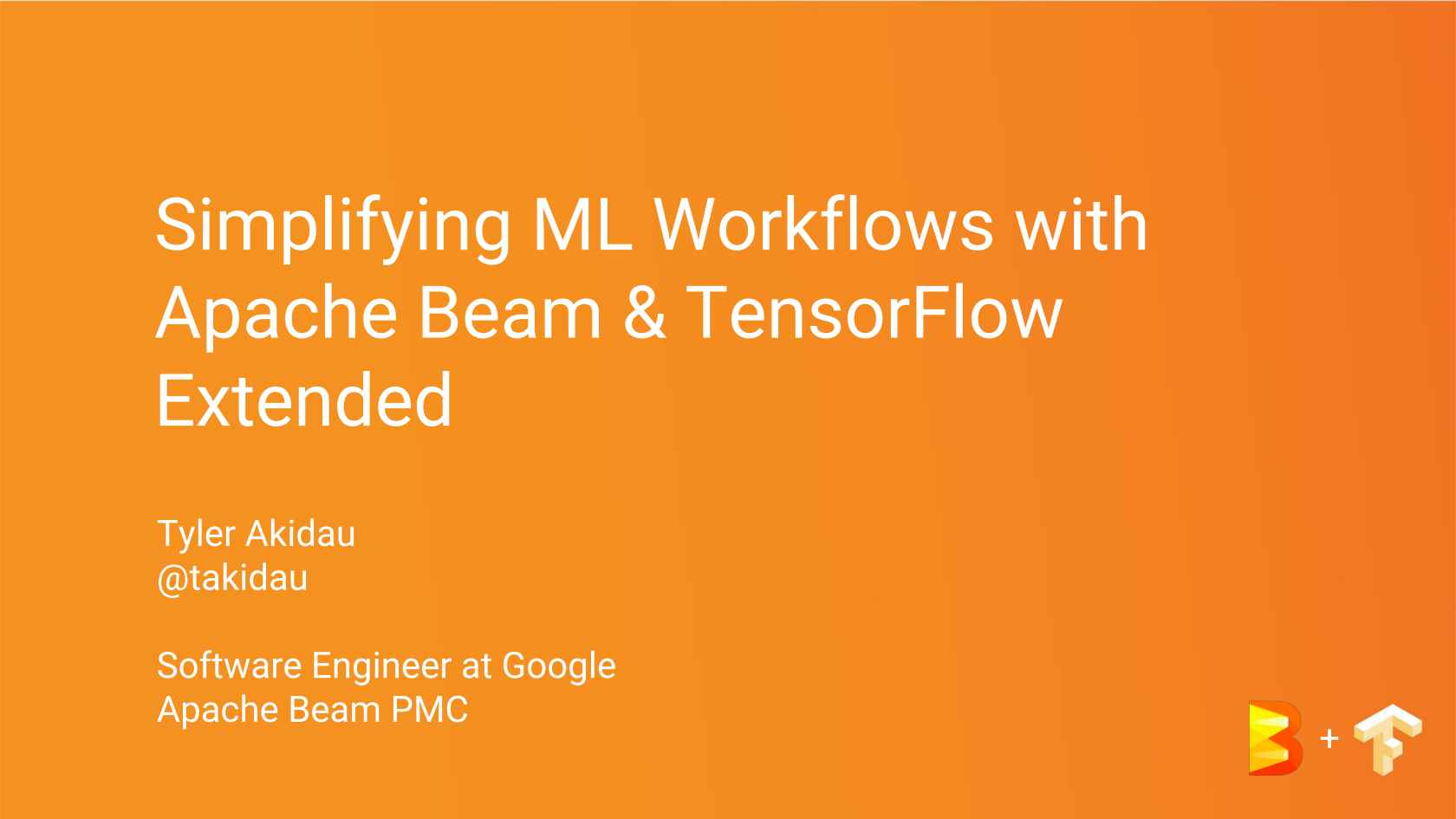 Simplifying ML Workflows with Apache Beam