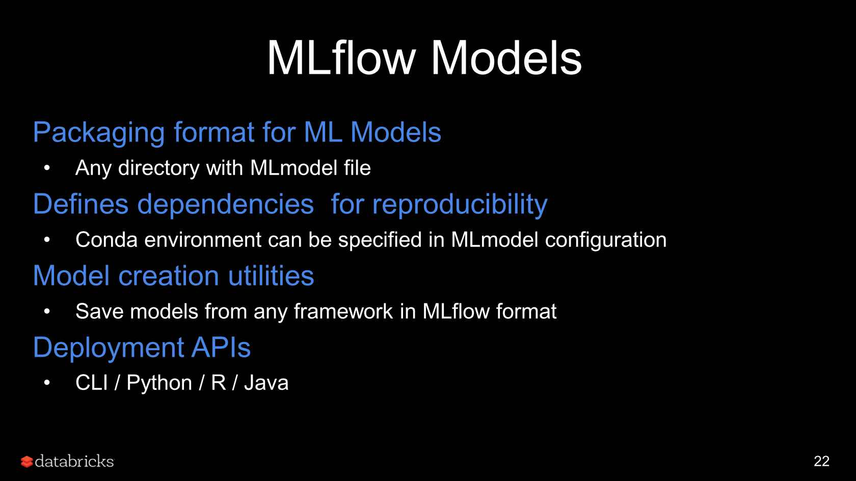 MLflow: An Open Platform to Simplify the Machine Learning