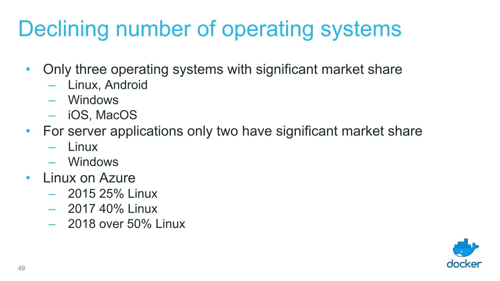 The Operating System in 2018