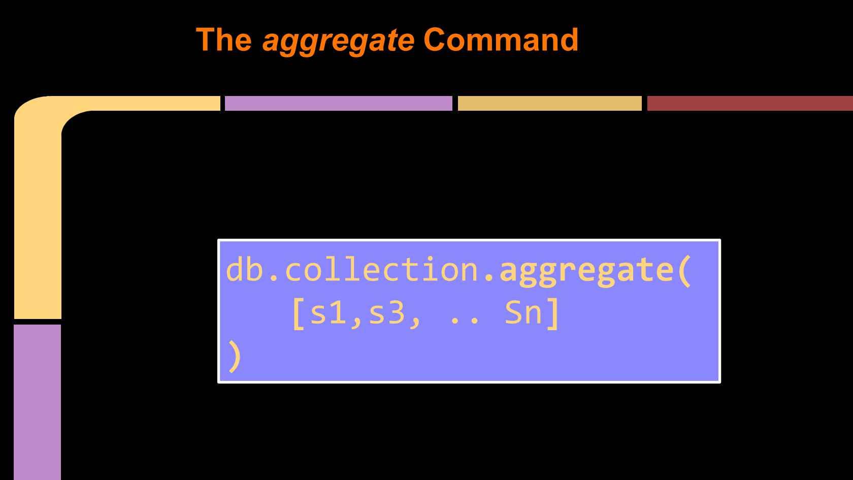 MongoDB Aggregation - Going Way beyond the Query