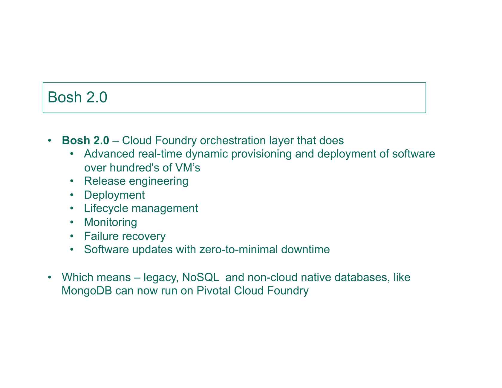MongoDB-as-a-Service on Pivotal Cloud Foundry