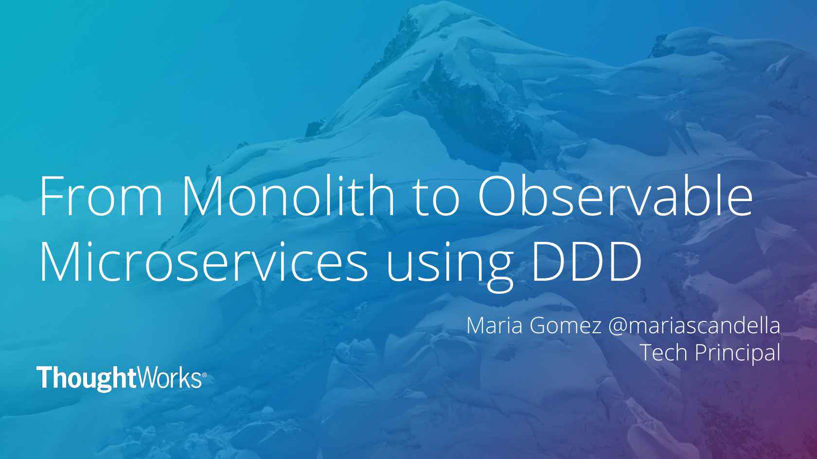 from monolith to observable microservices using ddd observable microservices using ddd