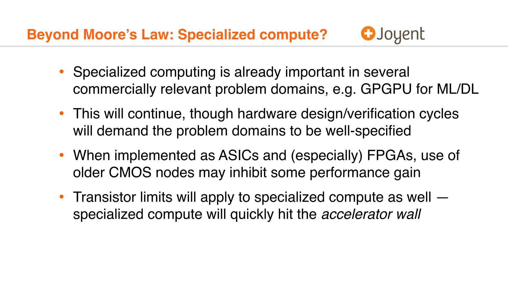 No Moore Left to Give: Enterprise Computing after Moore's Law
