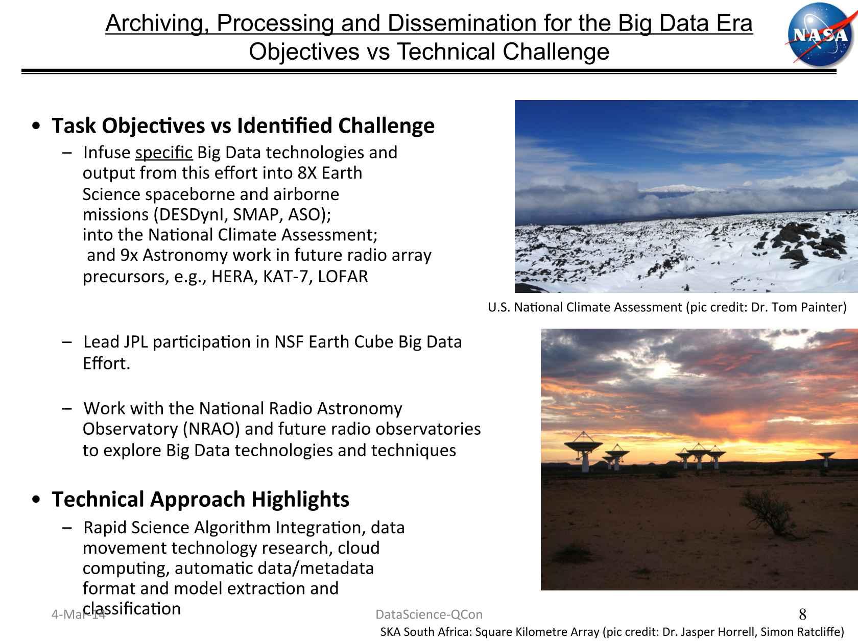Real Data Science at NASA