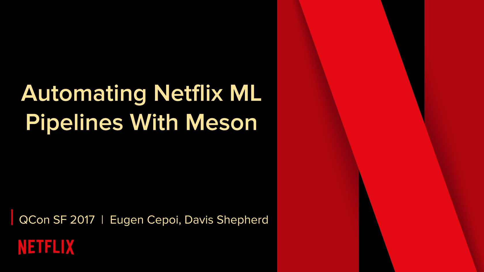 Automating Netflix ML Pipelines with Meson