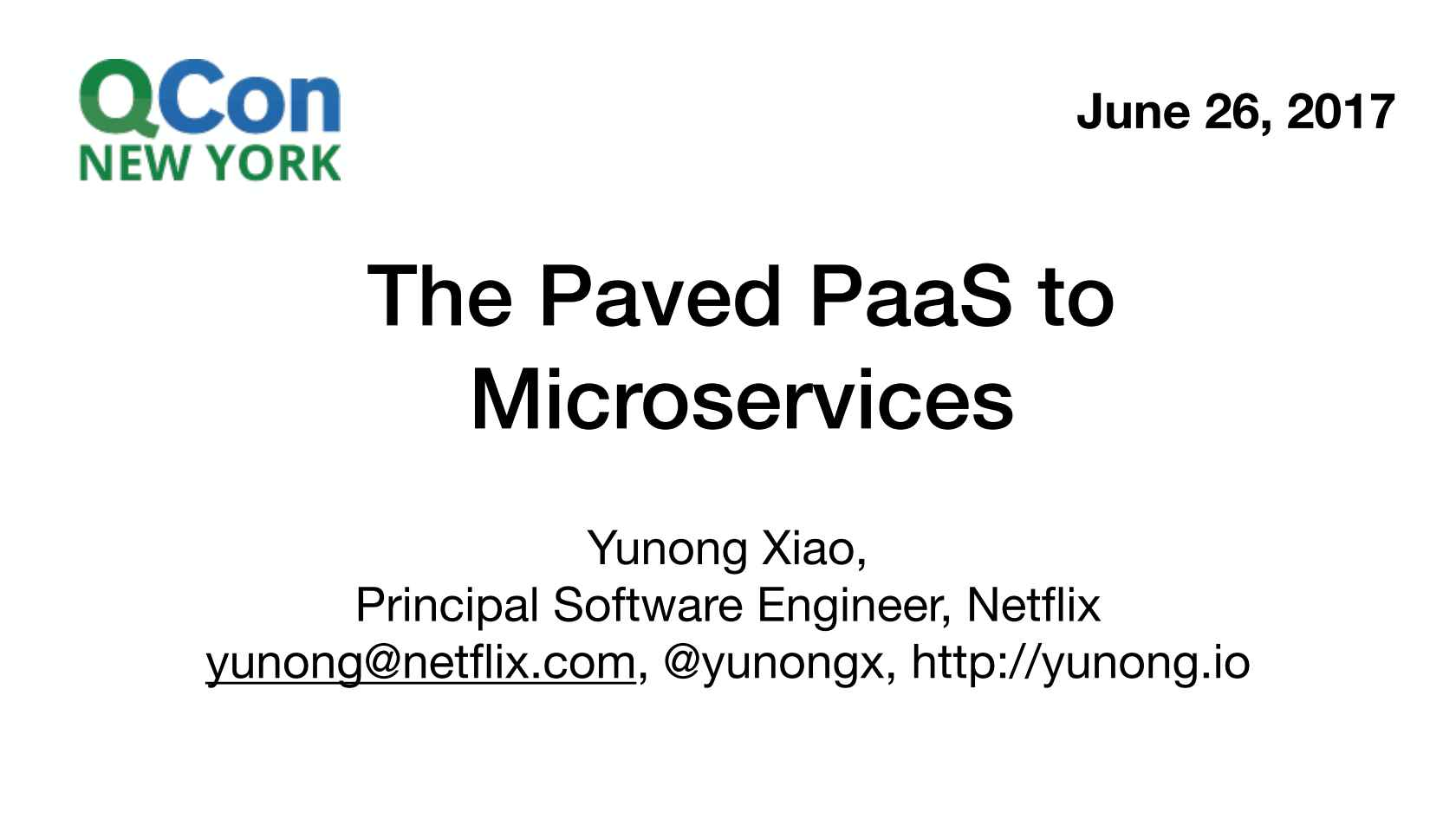The Paved PaaS to Microservices at Netflix