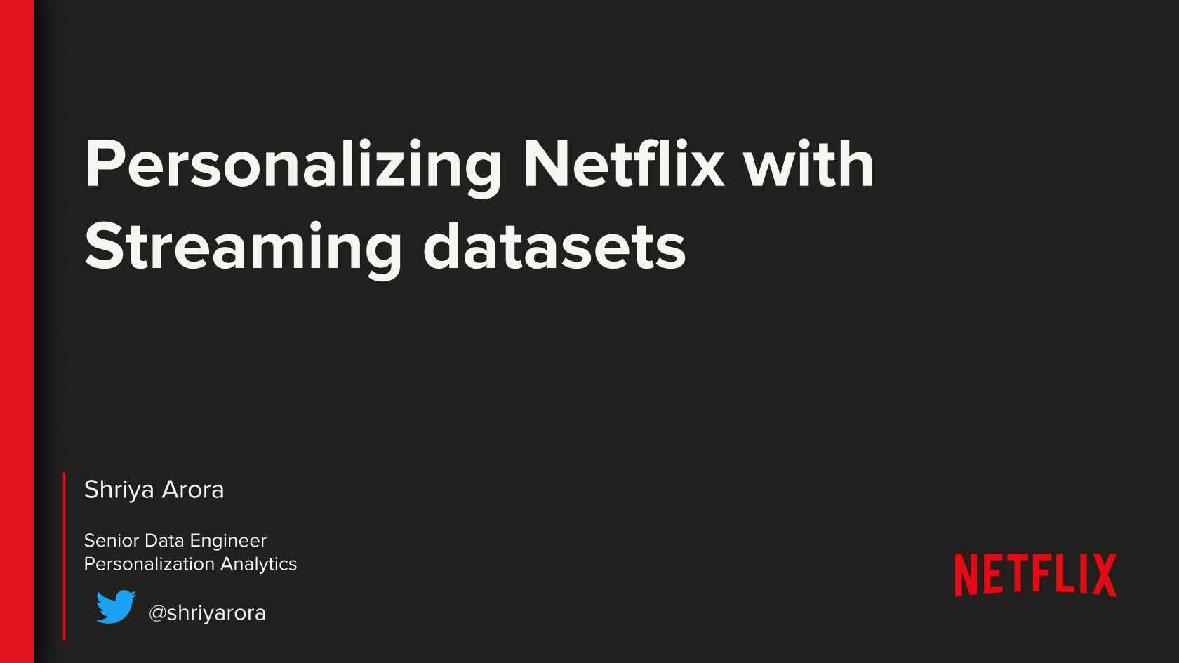 Streaming for Personalization Datasets at Netflix