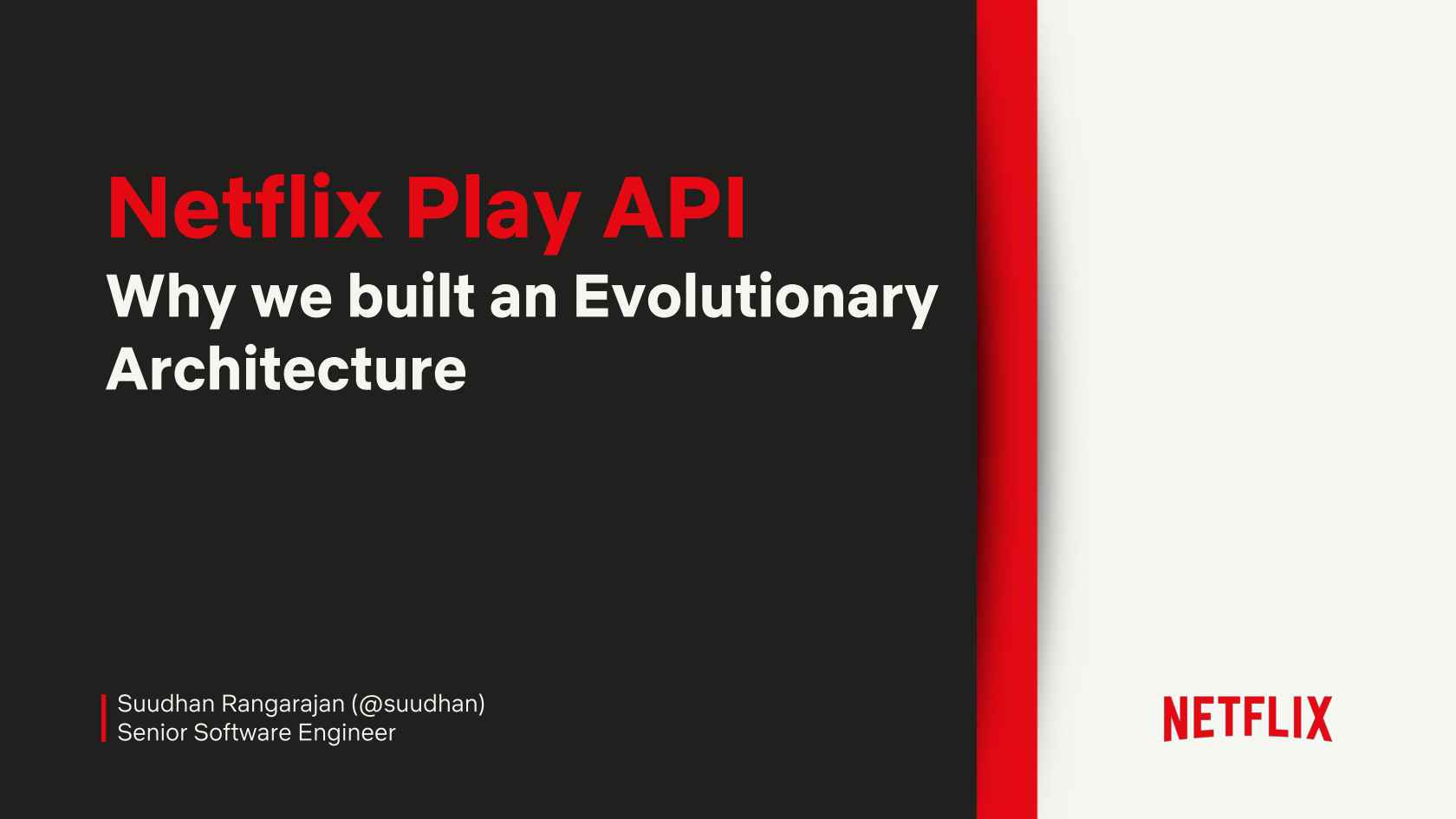 Netflix Play API - An Evolutionary Architecture
