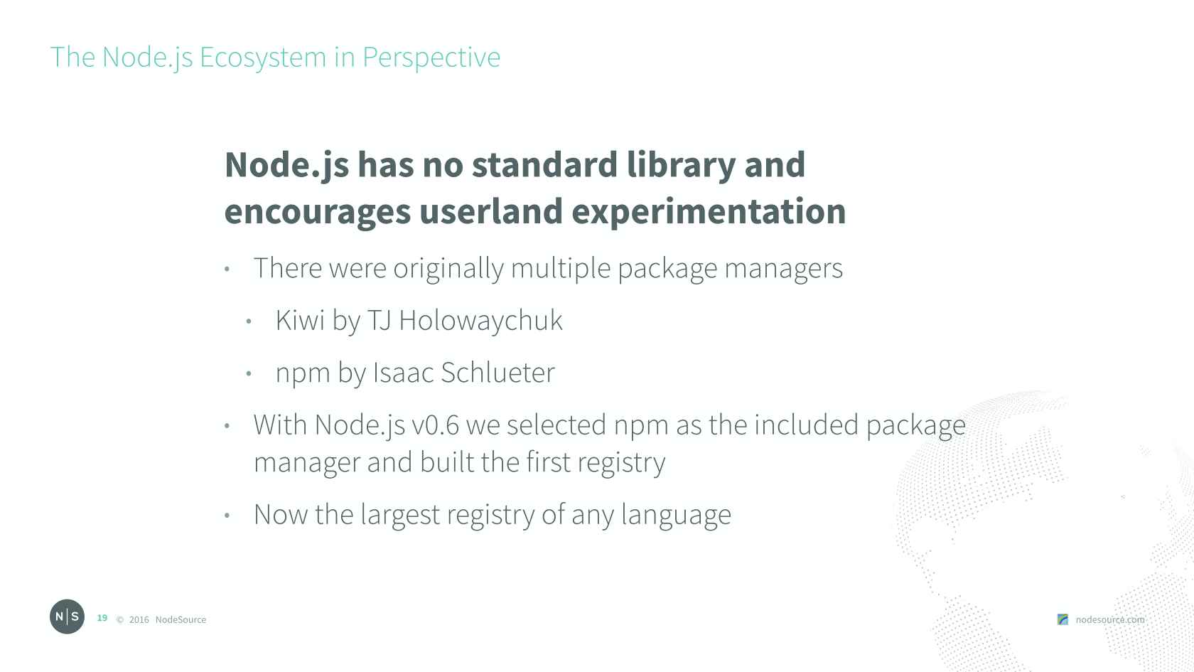 The Node js Ecosystem in Perspective