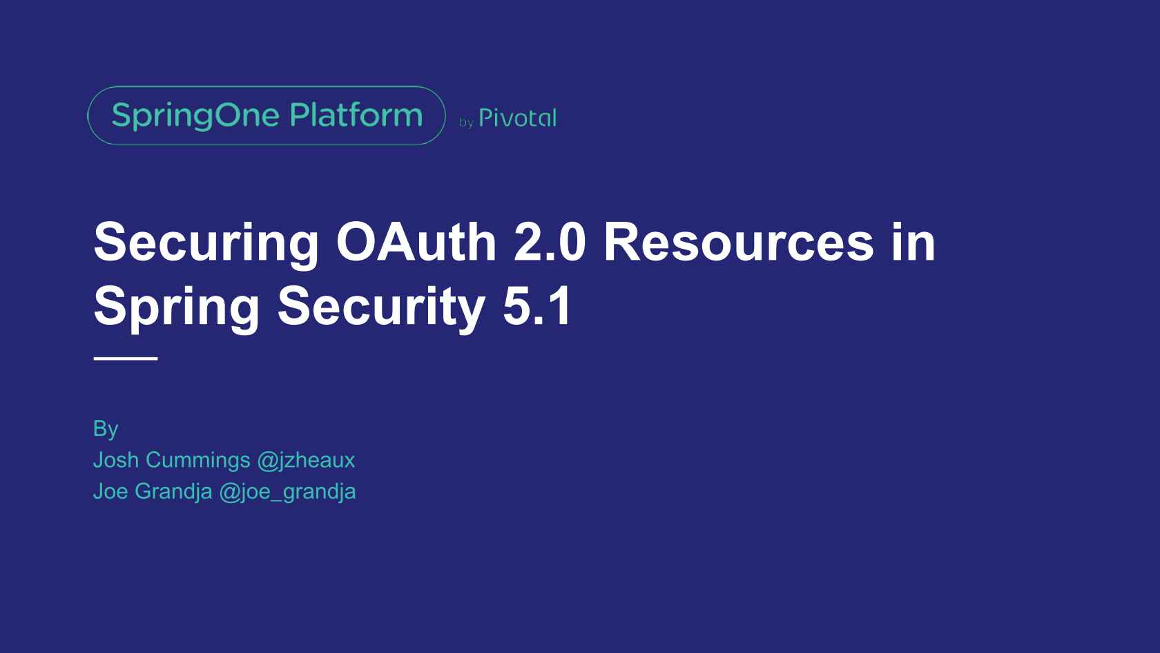 Securing OAuth 2 0 Resources in Spring Security 5