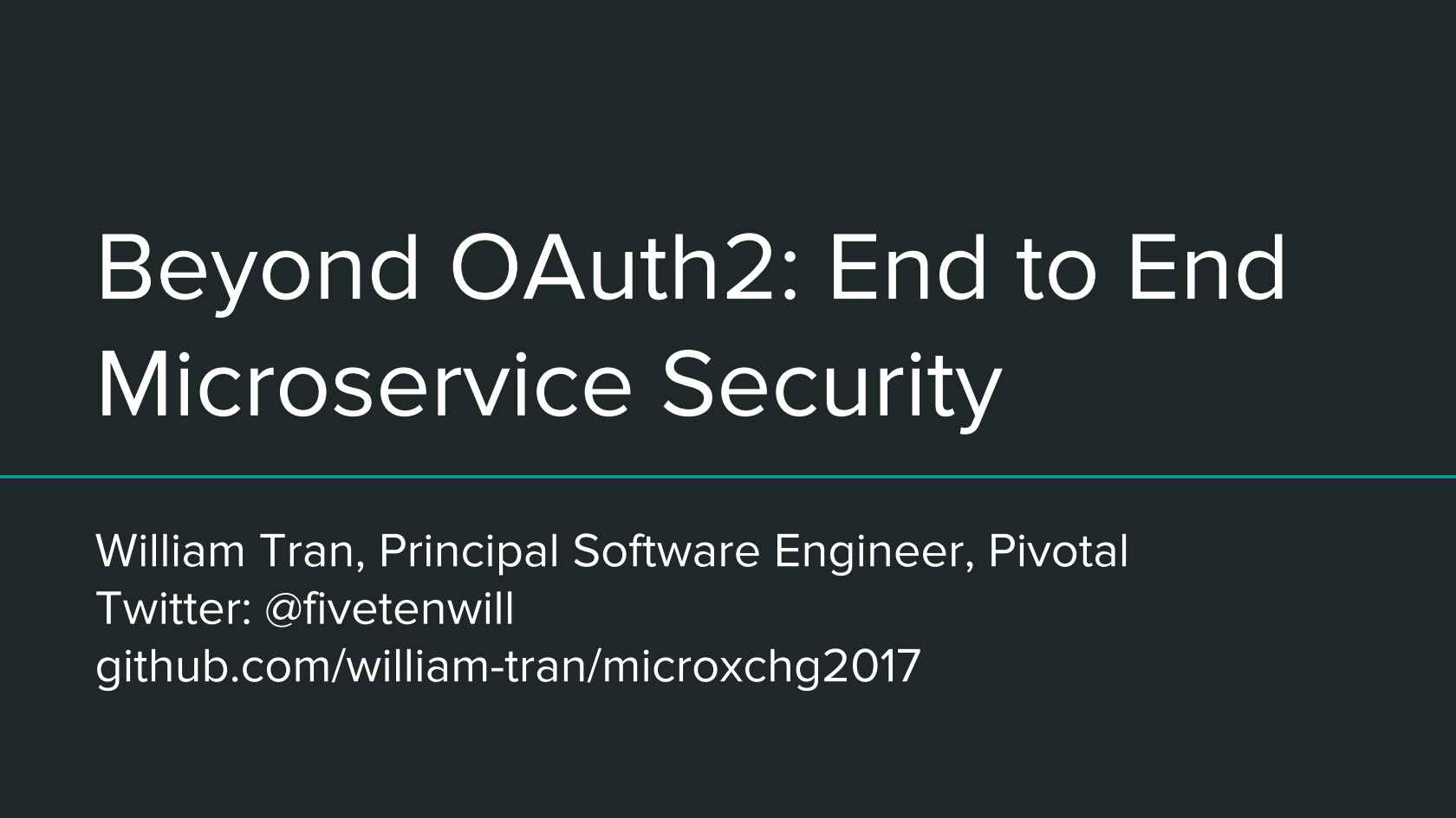 Beyond OAuth2: End to End Microservice Security