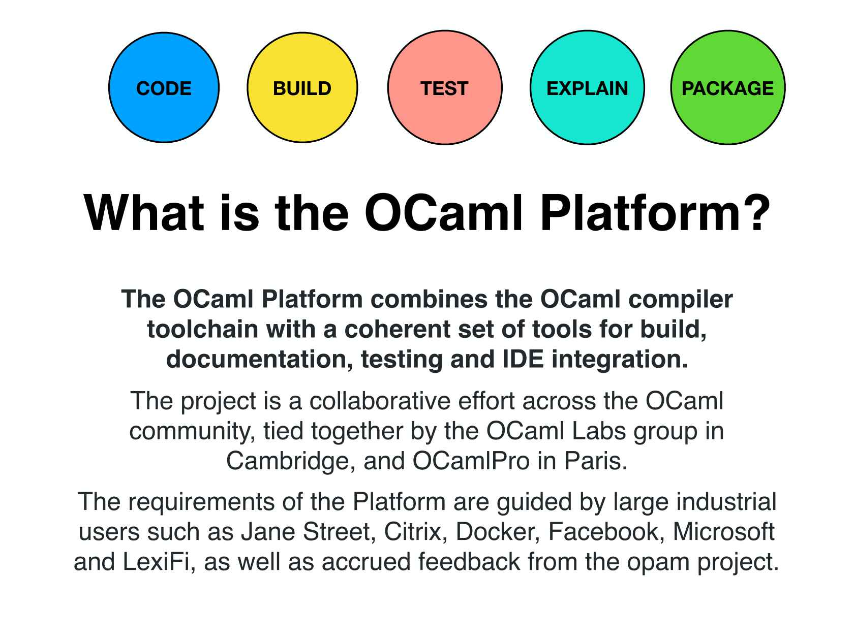 Fast, Flexible and Functional Programming with OCaml