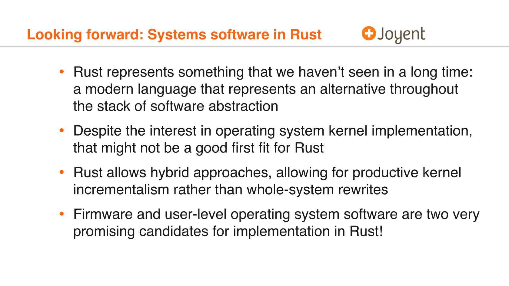 Is It Time to Rewrite the Operating System in Rust?