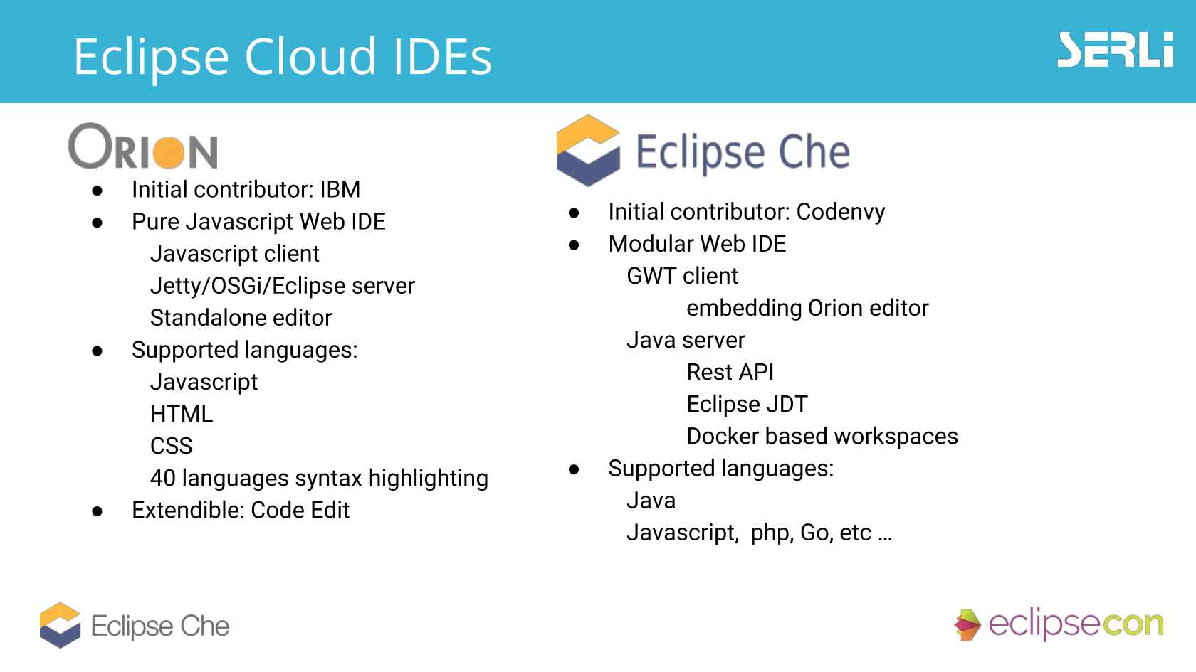 Pair Programming in the Cloud with Eclipse Che, Eclipse Flux, Orion